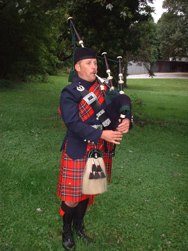 Baltimore Bagpiper Paul Cora playing lovely music on his Scottish bagpipes